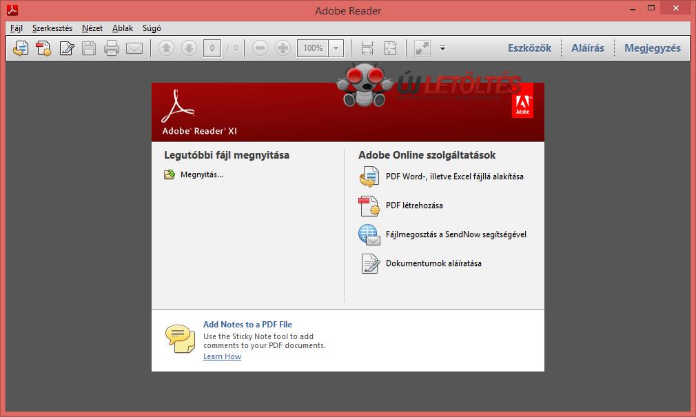 Adobe reader 11 letöltése ingyen