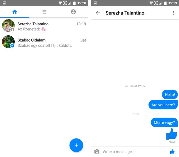 Facebook Messenger Lite letöltés Androidra